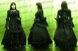 メイド服 ブラック レースのお洋服セット風 ●コスプレ衣装