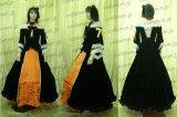 悪の王女 悪の召使替え歌 リン王女風 ベロア生地 ●コスプレ衣装
