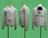 武装戦線 柳臣次 河内鉄生風 革ジャン 白 ●コスプレ衣装