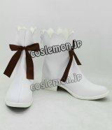 VOCALOID ボーカロイド 初音ミク 雪ミク風 コスプレ靴 ブーツ