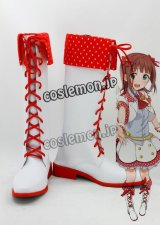 THE IDOLM@STER アイドルマスター 天海春香風 コスプレ靴 ブーツ