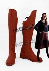 スーパーガール Supergirl風 コスプレ靴 ブーツ