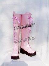 キングダム ハーツII カイリ風 コスプレ靴 ブーツ
