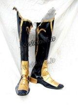 悪魔城ドラキュラ キャッスルヴ 闇の呪印 ヘクター風 コスプレ靴 ブーツ