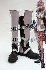 ファイナルファンタジーXIII FF13 ライトニング風 コスプレ靴 ブーツ