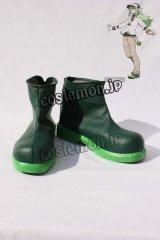 ブラック·ホワイト N風 コスプレ靴 ブーツ