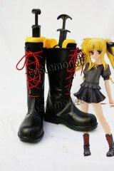 魔法少女リリカルなのは フェイト風 私服 コスプレ靴 ブーツ