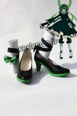 ブラックロックシューター デッドマスター風 コスプレ靴 ブーツ