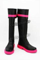 VOCALOID 鏡音リン風 03 コスプレ靴 ブーツ