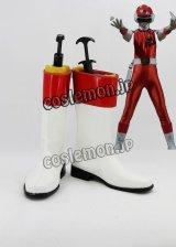 超新星フラッシュマン Red Flash風 コスプレ靴 ブーツ