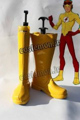 ヤング・ジャスティス Young Justice キッド・フラッシュ風 コスプレ靴 ブーツ