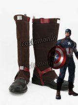 アベンジャーズ/エイジ・オブ・ウルトロン Avengers: Age of Ultron キャプテン・アメリカ風 コスプレ靴 ブーツ