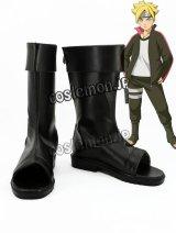 劇場版 BORUTO -NARUTO THE MOVIE- うずまきボルト風 コスプレ靴 ブーツ