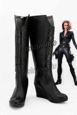 アベンジャーズ The Avengers シビル・ウォー/キャプテン・アメリカ ブラック・ウィドウ風 コスプレ靴 ブーツ