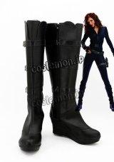 アイアンマン2 Iron Man 2 ナタリー・ラッシュマン/ナターシャ・ロマノフ/ブラック・ウィドウ風 コスプレ靴 ブーツ