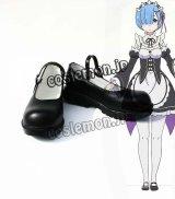 Re:ゼロから始める異世界生活 レム風 メイド少女 コスプレ靴 ブーツ