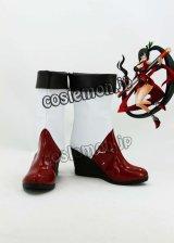 BLAZBLUE ブレイブルー ライチ=フェイ=リン風 コスプレ靴 ブーツ
