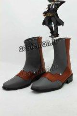 BLAZBLUE ブレイブルー ハザマ風 コスプレ靴 ブーツ