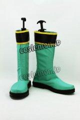 ヒーロー 戦隊シリーズ マジグリーン風 コスプレ靴 ブーツ