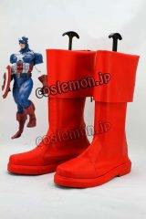 アベンジャーズ Captain America スティーブ・ロジャース/キャプテン・アメリカ風 コスプレ靴 ブーツ