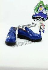 東方Project 東風谷早苗風 コスプレ靴 ブーツ