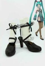 VOCALOID 歌姫計画F 初音ミク風 コスプレ靴 ブーツ
