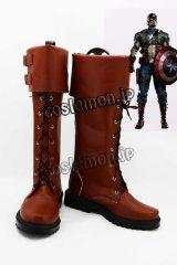 キャプテン・アメリカ Captain America スティーブ・ロジャース/キャプテン・アメリカ風 コスプレ靴 ブーツ