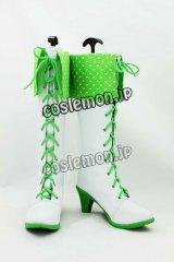 アイドルマスター THE IDOLM@STER 星井美希風 コスプレ靴 ブーツ