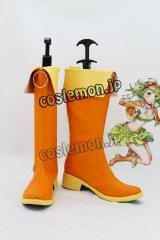 VOCALOID ボーカロイド メグッポイド風 02 コスプレ靴 ブーツ