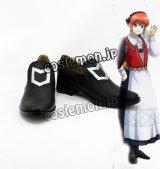 銀魂 神楽風 05 コスプレ靴 ブーツ