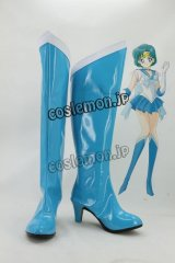 美少女戦士セーラームーン 水野亜美風 02 コスプレ靴 ブーツ