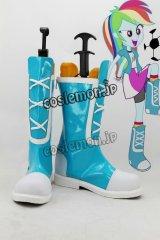 マイリトルポニー: エクエストリア・ガールズ My Little Pony: Equestria Girls レインボーダッシュ風 コスプレ靴 ブーツ