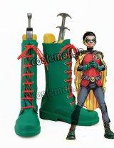 Batman バットマン Damian Wayne ダミアン・ウェイン風 コスプレ靴 ブーツ