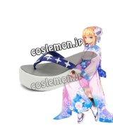 Fate/stay night フェイト・ステイナイト セイバー風 saber 和服 コスプレ靴 ブーツ