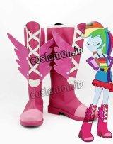 マイリトルポニー:エクエストリア・ガールズ My Little Pony レインボーダッシュ風 コスプレ靴 ブーツ