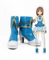アイドルマスター プラチナスターズ THE IDOLM@STER PLATINUM STARS 天海春香風 あまみはるか コスプレ靴 ブーツ