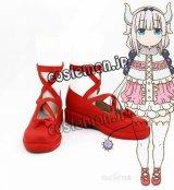 小林さんちのメイドラゴン カンナカムイ風 03 コスプレ靴 ブーツ