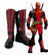デッドプール Deadpool ウェイド・ウィルソン デッドプール風 コスプレ靴 ブーツ