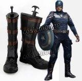 キャプテン・アメリカ Captain America スティーブ・ロジャース キャプテン・アメリカ風 コスプレ靴 ブーツ