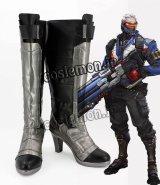 オーバーウォッチ Overwatch ソルジャー セブンティーシックス風 Soldier 76 ジョン・ジャック・モリソン コスプレ靴 ブーツ