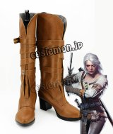 ウィッチャー3 ワイルドハント The Witcher 3: Wild Hunt Cirilla風 コスプレ靴 ブーツ