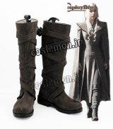 ゲーム・オブ・スローンズ Game of Thrones 氷と炎の歌 デナーリス・ターガリエン風 コスプレ靴 ブーツ