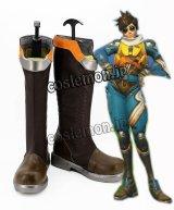 オーバーウォッチ Overwatch スリップストリーム トレーサー風 レナ・オクストン Lena Oxton コスプレ靴 ブーツ