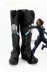アベンジャーズ The Avengers シビル・ウォー キャプテン・アメリカ ブラック・ウィドウ風 02 コスプレ靴 ブーツ
