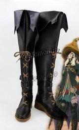ファイナルファンタジーXIV FF14 黒魔道士風 BLACK MAGE コスプレ靴 ブーツ