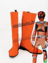 ヒーロー スティンガー風 サソリオレンジ風 コスプレ靴 ブーツ