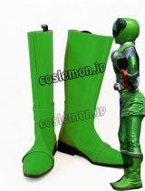 ヒーロー ハミィ風 カメレオングリーン風 コスプレ靴 ブーツ