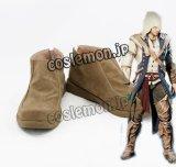アサシンクリードIII Assassin's Creed III コナー ラドンハゲードン風 コスプレ靴 ブーツ