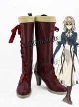 ヴァイオレット・エヴァーガーデン ヴァイオレット・エヴァーガーデン風 Violet Evergarden コスプレ靴 ブーツ