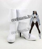 キャプテン・マーベル Captain Marvel モニカ・ランボー風 Monica Rambeau コスプレ靴 ブーツ